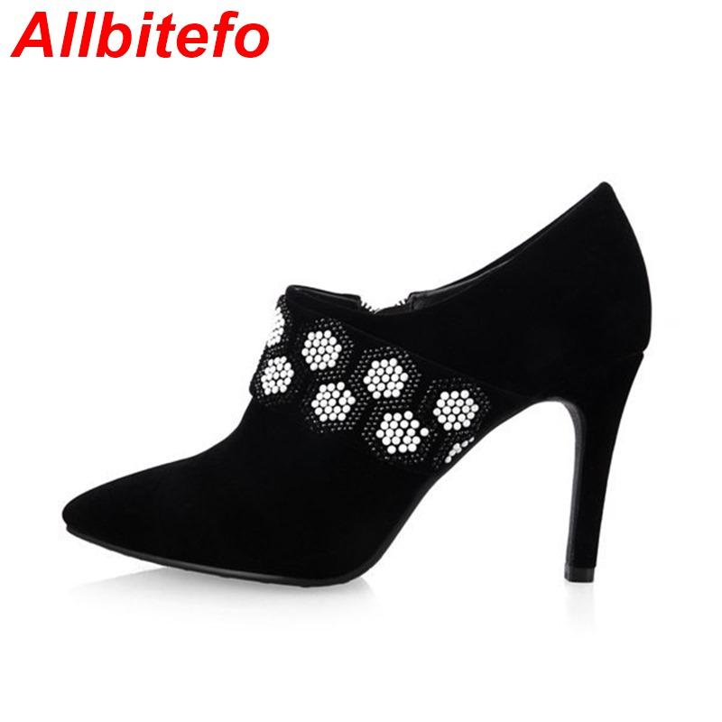 Фотография Plus size EU 33-43,fashion beading design women pumps 2015 new sexy red platform pumps lady high heel shoes woman wedding shoes