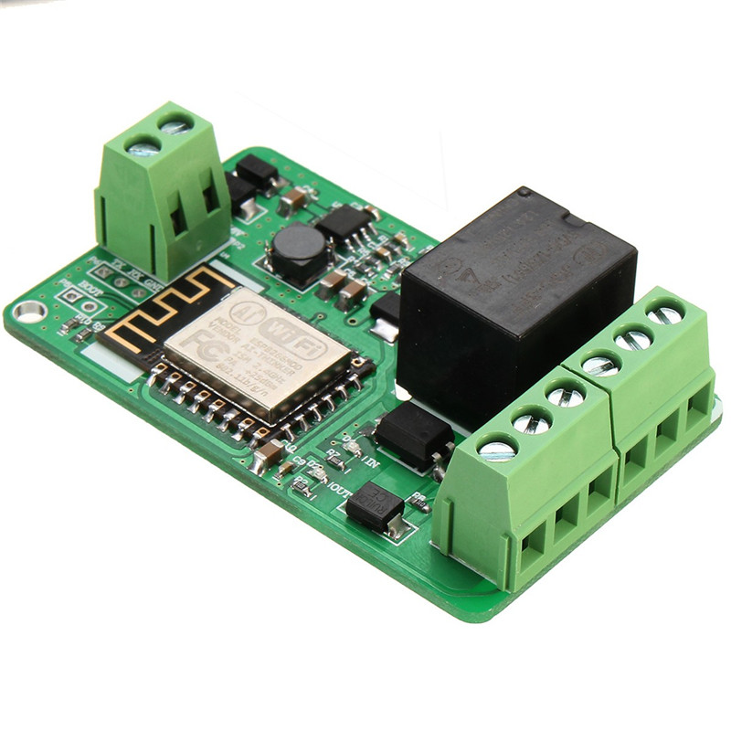 New Arrival 1Pcs Green ESP8266 10A 220V Network Relay WIFI Module Input DC 7V~30V 65x40x18mm New Electric Unit Modules(China (Mainland))