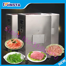 Kitchen equipment commercial meat beef pork cutting machine vertical fresh meat shredded electric meat slicing(China (Mainland))