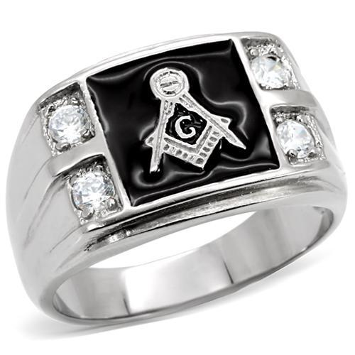 Europe and United states style Stainless Steel Masonic Ring AAA Top Quality Cubic Zirconia Men Rings US Size 8,9,10,11,12,13(China (Mainland))