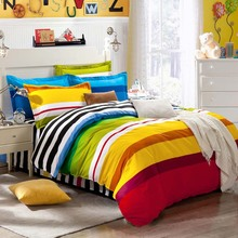 promotion 2015 hot 100%cotton Reactive printed duvet cover bedding sets flat sheet bedspread pillowcase king queen size 4/6pcs(China (Mainland))