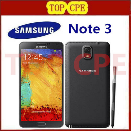 N9005 Unlocked Original Samsung Galaxy Note 3 N900 Mobile phone Quad Core RAM 3GB 13MP WiFi GPS Refurbished Andriod Phone(China (Mainland))