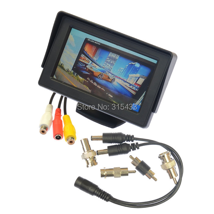 "Гаджет  DIY Muti-use CCTV Video camera Tester 4.3"" inch TFT LCD MONITOR COLOR CCTV Security Surveillance CAMERA TESTER CCTV TEST None Безопасность и защита"