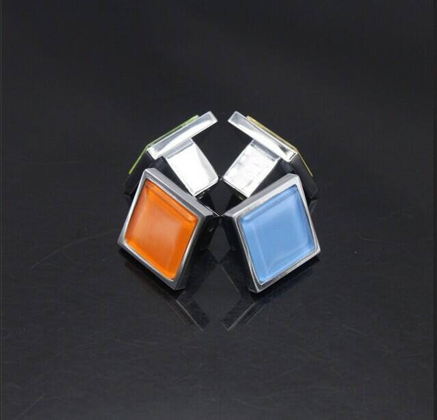 Tangpan 30mm Transparent Sparkle Glass Clear Door Knobs Bin Kitchen Cabinet Drawer Dresser Cupboard Knobs Pull Handles