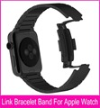Newest Black Link Bracelet Band For Apple Watch 42mm Silver 316L Stainless Steel Watchbands With 1