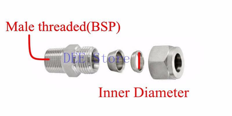 Pcs quot bsp mm id double ferrule tube pipe fittings
