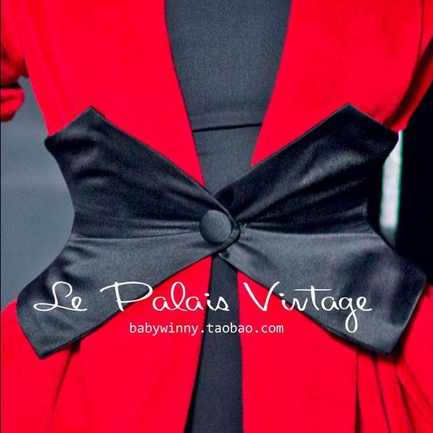 Le Palais Vintage Limited elegant retro classic black bone all-match waist girdle/Cummerbunds