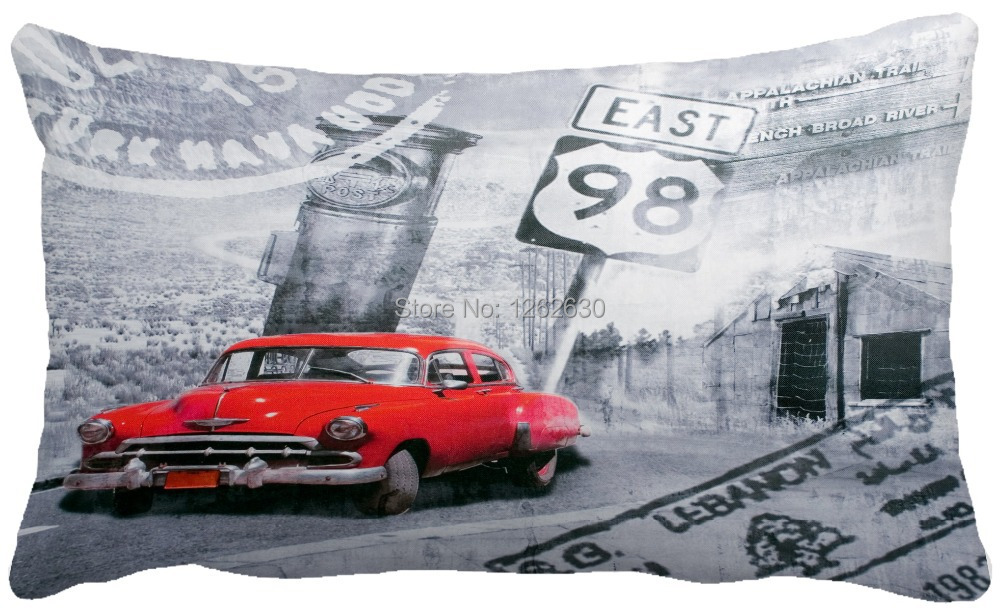 Restore ancient ways the postmark long red car pillow/customized