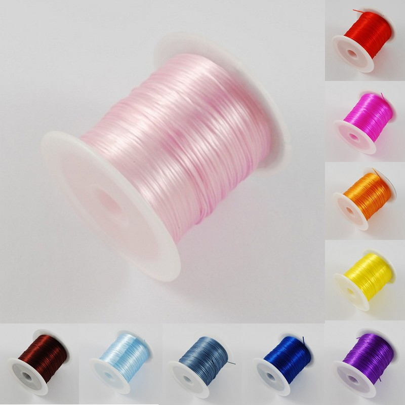10m 1 Roll Colorful Stretchy Flat Elastic Cord Crystal String For Jewelry Making Beading Wire Fishing Thread Rope stone 16colors(China (Mainland))