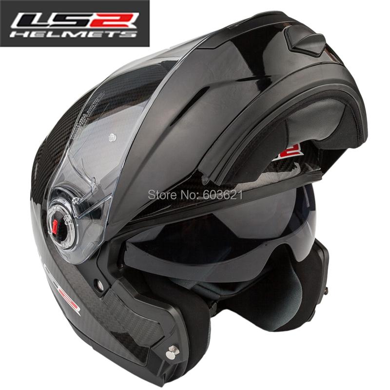 2014 New Ls2 FF394 double lens anti-fog carbon fiber undrape face motorcycle Off road helmet motorcross motorbike helmets XL XXL(China (Mainland))