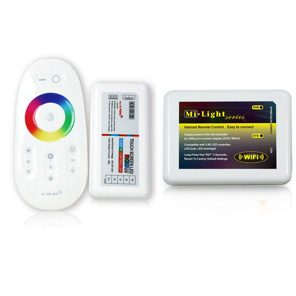 2.4G LED RGBW Wireless RF Controller Touch Remote Dimmable & WiFi Controller(China (Mainland))