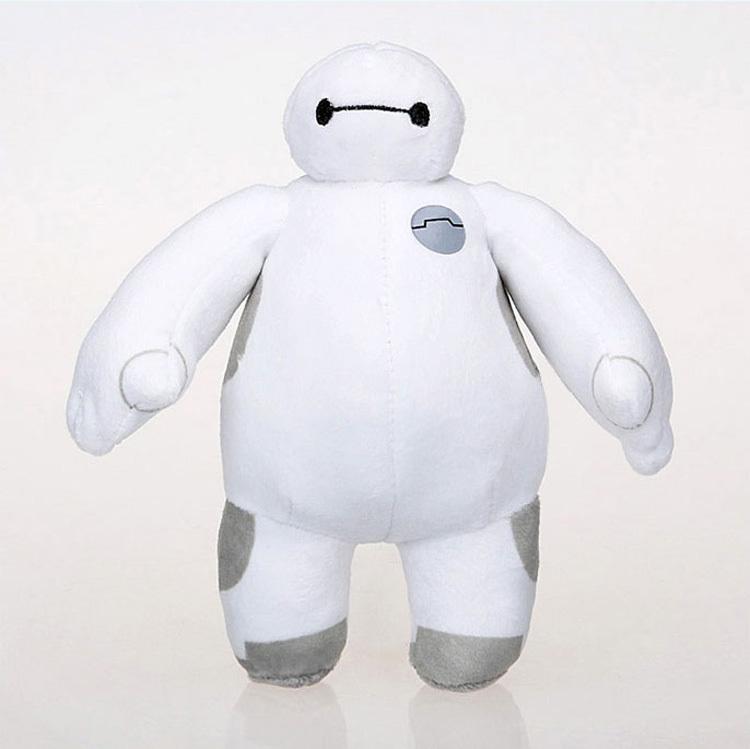 2015 18cm New Big Hero 6 Baymax Plush Doll Toy Robot 7 big hero 6 Stuffed Plush Birthday Gift(China (Mainland))