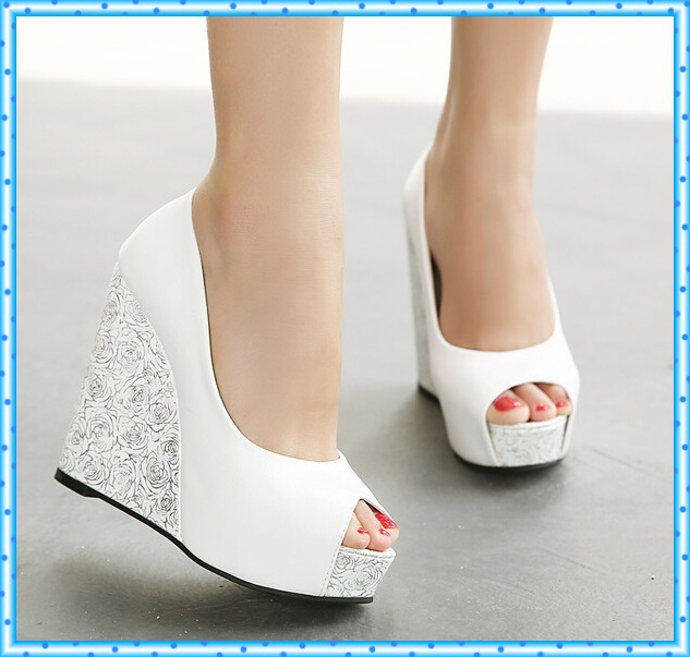 High Heel Sandals Platform Shoes Summer Flip Flops Women Slippers Wedges Sandalias Femininas open toe women pumps D93 - HaoYing shoe's Factory store