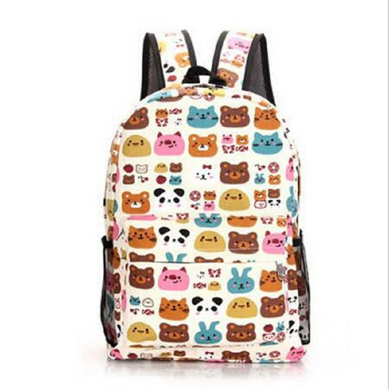 Auto marketing factory / new screen printed backpacks men / women Backpack / 7 color three design groups(China (Mainland))