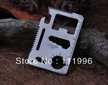 De gran tamaño 11 funciones en 1 multifunción herramienta de bolsillo descapsulador tarjeta que acampa al aire supervivencia envío gratis