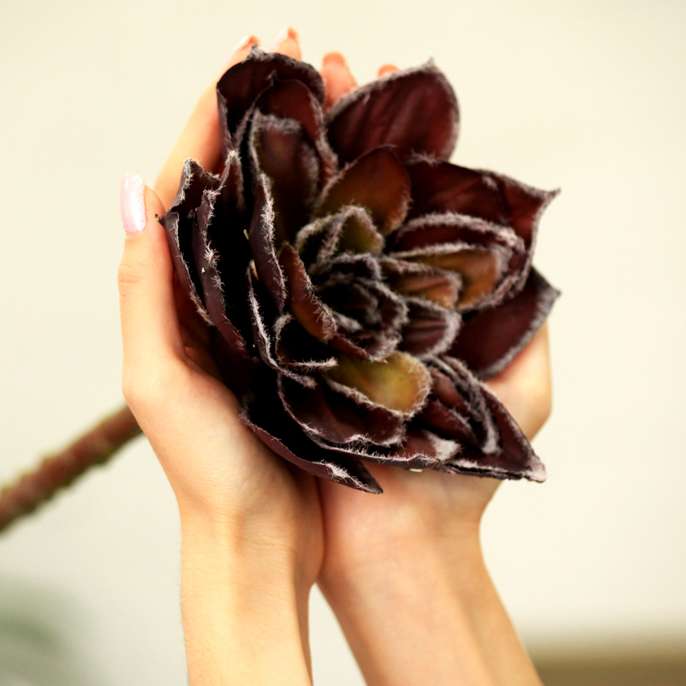 """Purely Handcrated Silk Flower 12"""" Artificial Lotus Silk Flower Single Stem in Brown / Nearly Natural(China (Mainland))"""