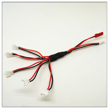 HOT 1 to 5 Balance 3.7V Charging Cable for V930 V977 V966 V988 Hubsan X4 H107L H107C H107D H109S JXD385 FY310B Syma X5C
