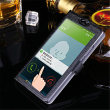 5 Colors With View Window Case For Lenovo A7600 fundas S8 A 7600 S 8 Luxury Transparent Flip Cover For Lenovo K5note Phone Case