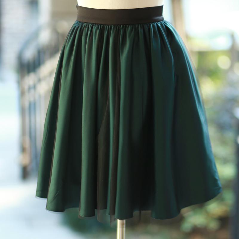 Original design 2014 spring and summer new arrival green gauze elegant puff skirt bust skirtОдежда и ак�е��уары<br><br><br>Aliexpress