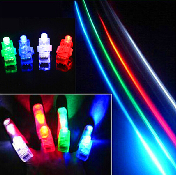 Free shipping 500pcs/lot LED Light flash laser finger mini glow beams ring torch lamp for party(China (Mainland))