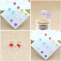 New crystal ball stud earrings lovely jewelry refraction light earring translucence starlight color stud earrings randomly