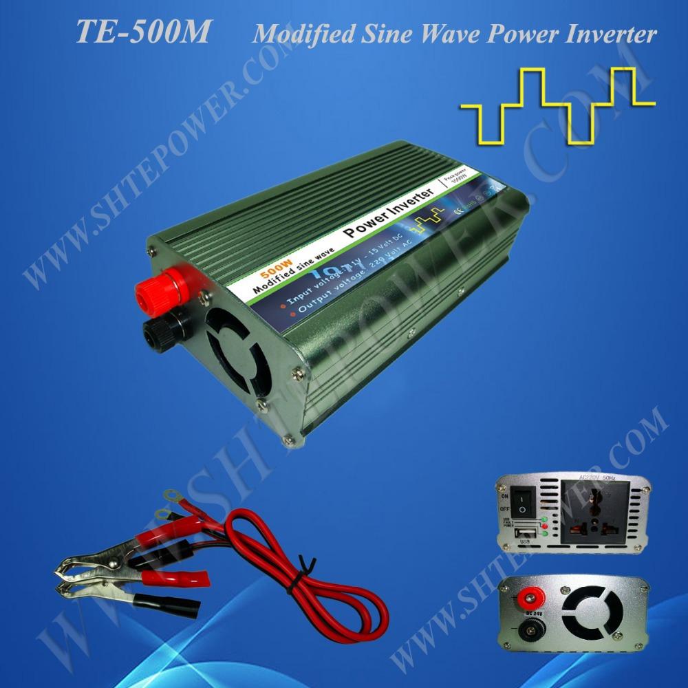 Modified Sine Wave Inverter, Micro Solar Off Grid Inverter DC 12V 24V to AC 110V/220V 500W(China (Mainland))