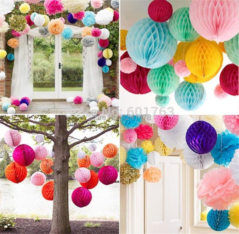 Как сделать шары соты из бумаги своими руками для украшения зала 84