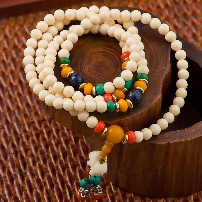 New Arrival 108 Buddha Beads Bracelets Bangles 44CM Natural Stone Charm Bracelets For Lovers Multi-layer Woman Bracelet Jewelry(China (Mainland))