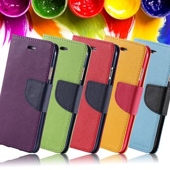 Etui portfel do iPhone 5 5S skóra PU miejsce na karty kolory