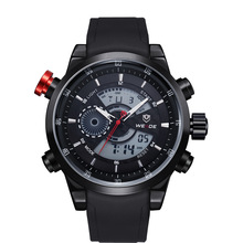 Nuevo 2015 WEIDE Relogio Masculino hombres reloj deportivo Digital analógico Display 3ATM impermeable del cuarzo de japón relojes militares