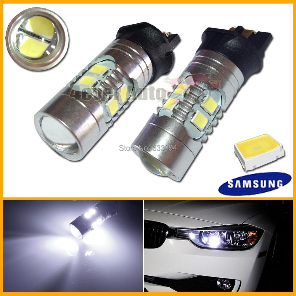2pcs Error Free PWY24W PW24W LED Bulbs For A3 A4 A5 Q3 VW MK7 Golf CC Ford Fusion Front Turn Signal Lights, F30 3 Series DRL(China (Mainland))