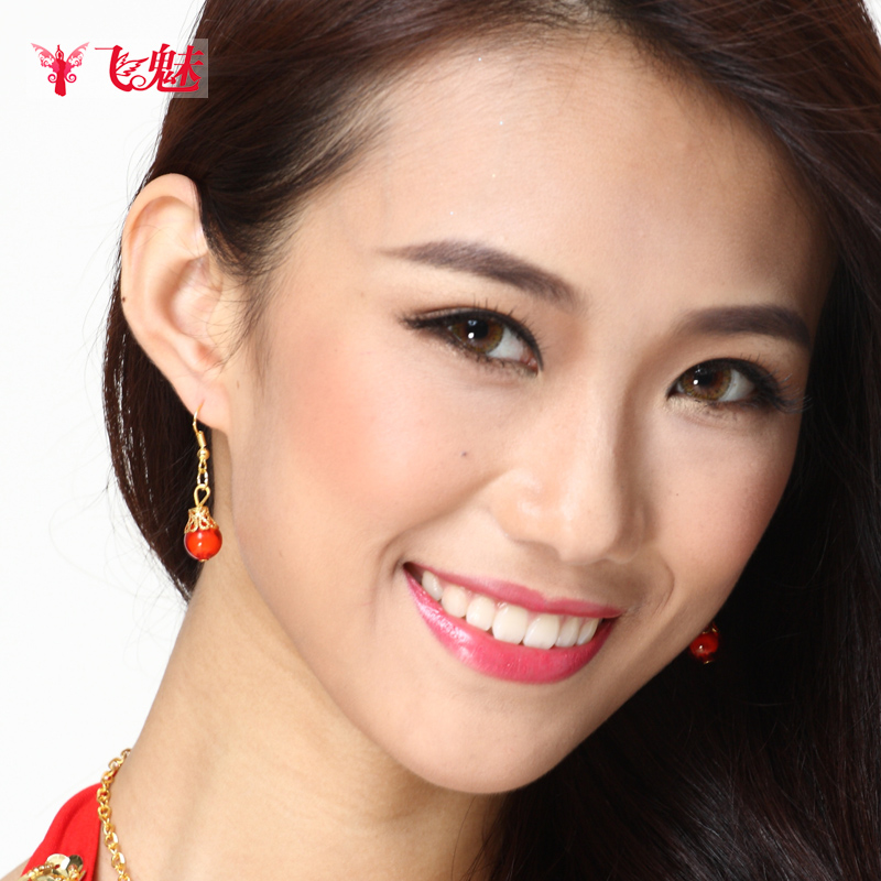 2015 Women Cotton Modal Top Fasion Special Offer Bellydance Dance Costume Belly Accessories Gem Earring Earrings Dancing Drop(China (Mainland))