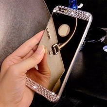 TPU Soft Gel Case Cover Luxury Bling Diamond Crystal Mirror Style Back Cover Skin For Samsung Galaxy S4 S5 S6 Note3 Note4 Note 5