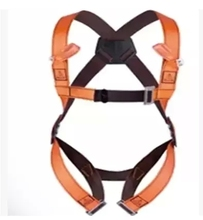 DELTAPLUS HAR12 Workplace safety belts climbing safety fall arrester harness 2 anchorage points back and chest orange 501012 (China (Mainland))