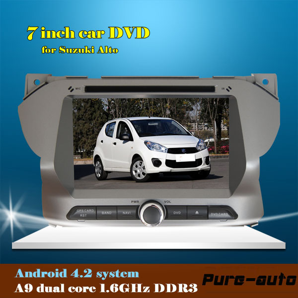 android 4.2 dvd car audio navigation system car stereo gps bluetooth for Suzuki Alto(China (Mainland))