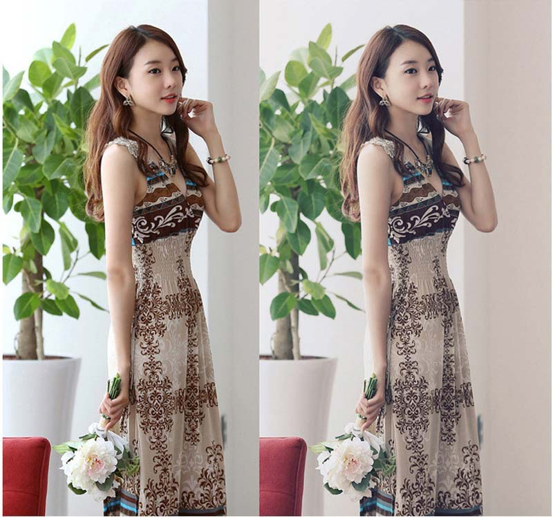 25 AUG 2015 Happy Sales Fashion Style Women Long Dress Girls Summer Dress France Robe Vestidos(China (Mainland))