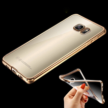 For Samsung S7 Edge Royal Luxury style Plating Gilded TPU Phone Case For Samsung Galaxy S7 S7 edge silicone soft Back Case Cover(China (Mainland))