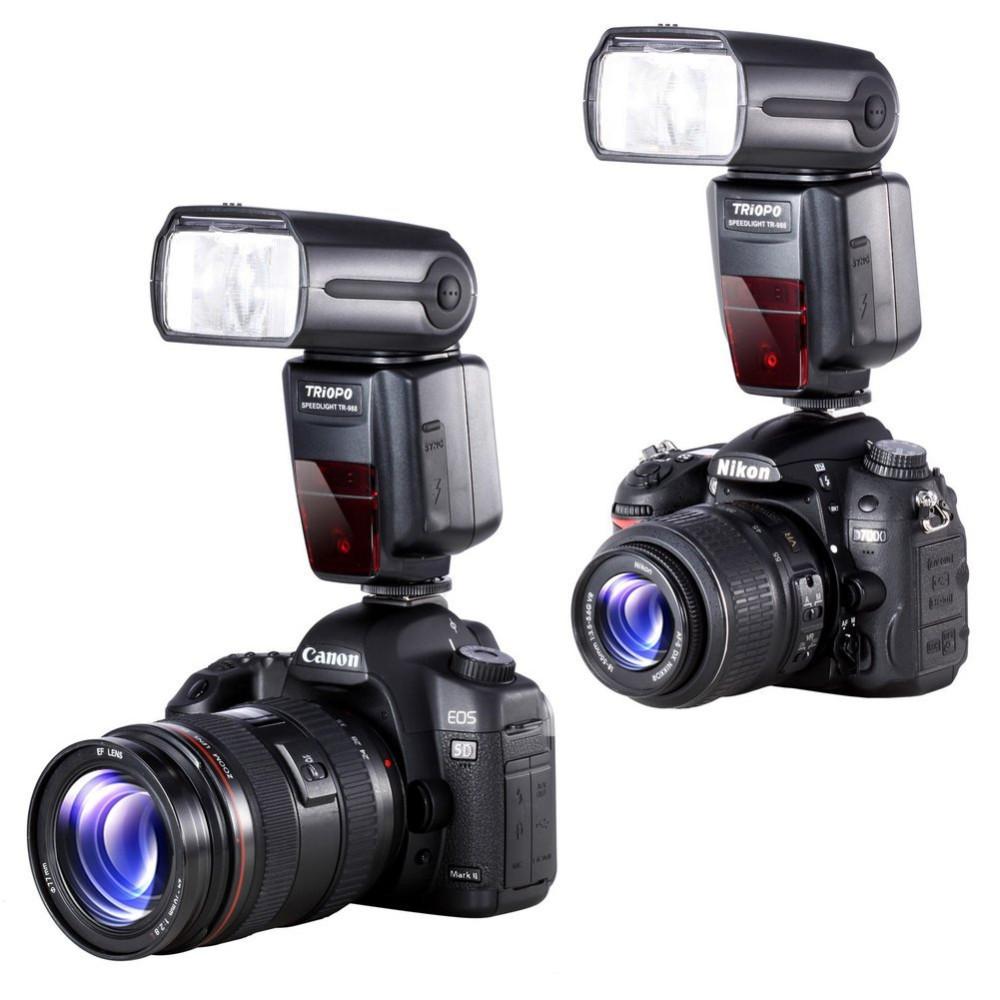 ถูก T RIOPO TR-988มืออาชีพS Peedlite TTLกล้องแฟลชกับ*ความเร็วสูงSync *สำหรับCanonและNikonกล้องดิจิตอลSLR TR988 TR-988