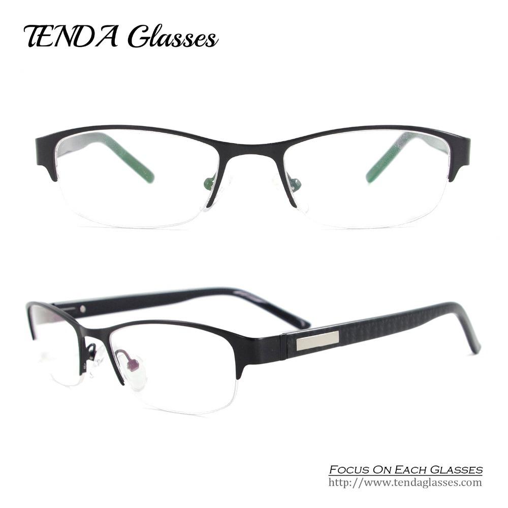 Classic Glasses Eyewear Metal Half Rim Men Eyeglasses ...
