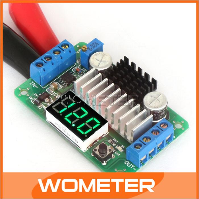 Mini LTC1871 DC Power Source Step Up Converter Supply Power Mode Voltmeter Adjustable Converters +Green LED Voltmeter #200284(China (Mainland))