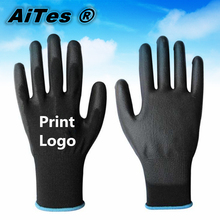 AiteS 100000pairs/lot black pu work gloves size have S M L XL(China (Mainland))