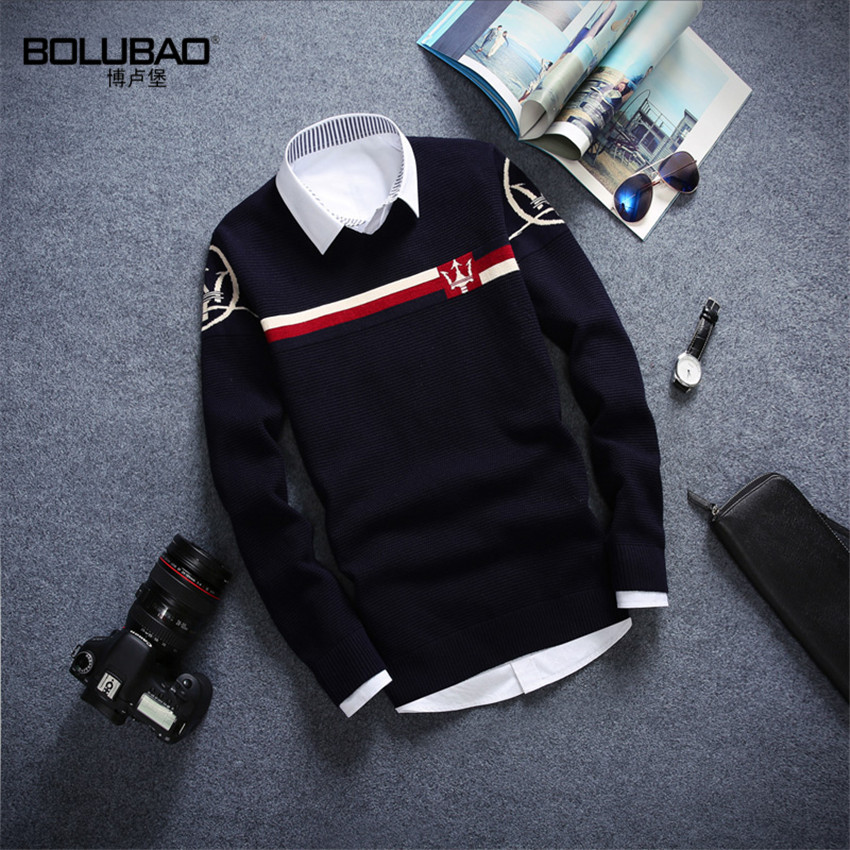2015 High Quality Brand New Men Sweater Casual Slim Fit Male Clothing O Neck Solid Long Sleeve Knitted Pullovers Sweater(China (Mainland))