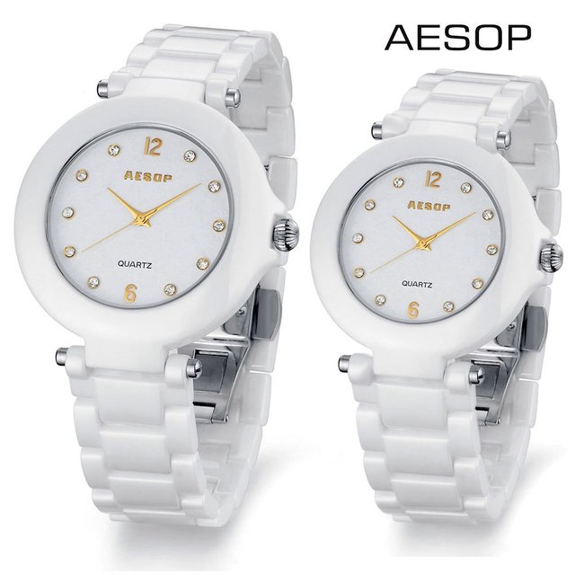 Aesop couple watch ceramic quartz watch water resistant sapphire glass brand new 9919