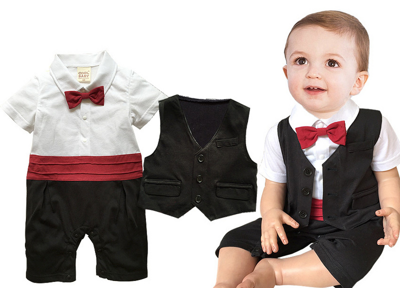 Nice Boy Baby Infant Formal Gentleman Clothes Button