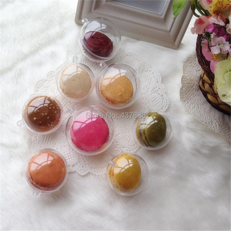 5 cm bola de plástico transparente caixa de doces caixa de embalagem macaron plástico transparente bolas de natal 3 peças frete grátis(China (Mainland))