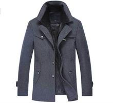 ZOEQO nuevo invierno lana abrigo chaquetas Casual para hombre abrigo chaqueta y abrigo de hombre abrigo Plus tamaño m-4XL(China)