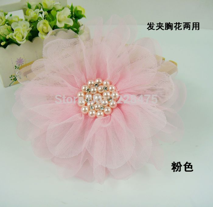Free shipping! NEW  baby girls large pearl flower Hairclip / lace hairpins/ brooches / Hair Accessories<br><br>Aliexpress