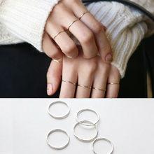 Кольцо Стерлингового Серебра 925 Мода Простые Гладкие Изысканные Кольца Тонкий Маленький палец Кольцо Для Женщин Ювелирные Изделия(China (Mainland))