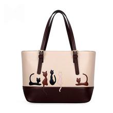 Dual Use Women Detachable Belt Handbags Cute Cat Rabbit PU Leather Girls Shoulder Bag Ladies Messenger Crossbody Casual Tote