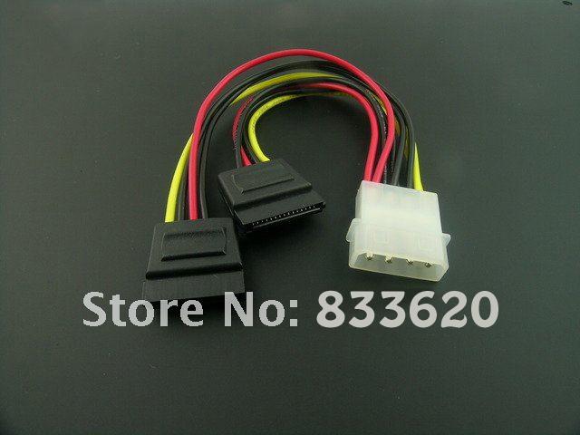IDE to 2 x Serial ATA SATA HDD Power Adapter Cable Splitter(China (Mainland))
